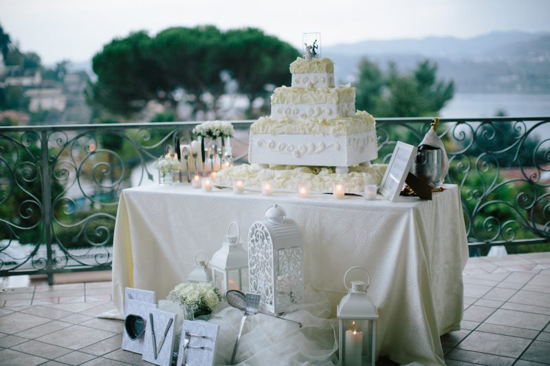 wedding cake lago orta