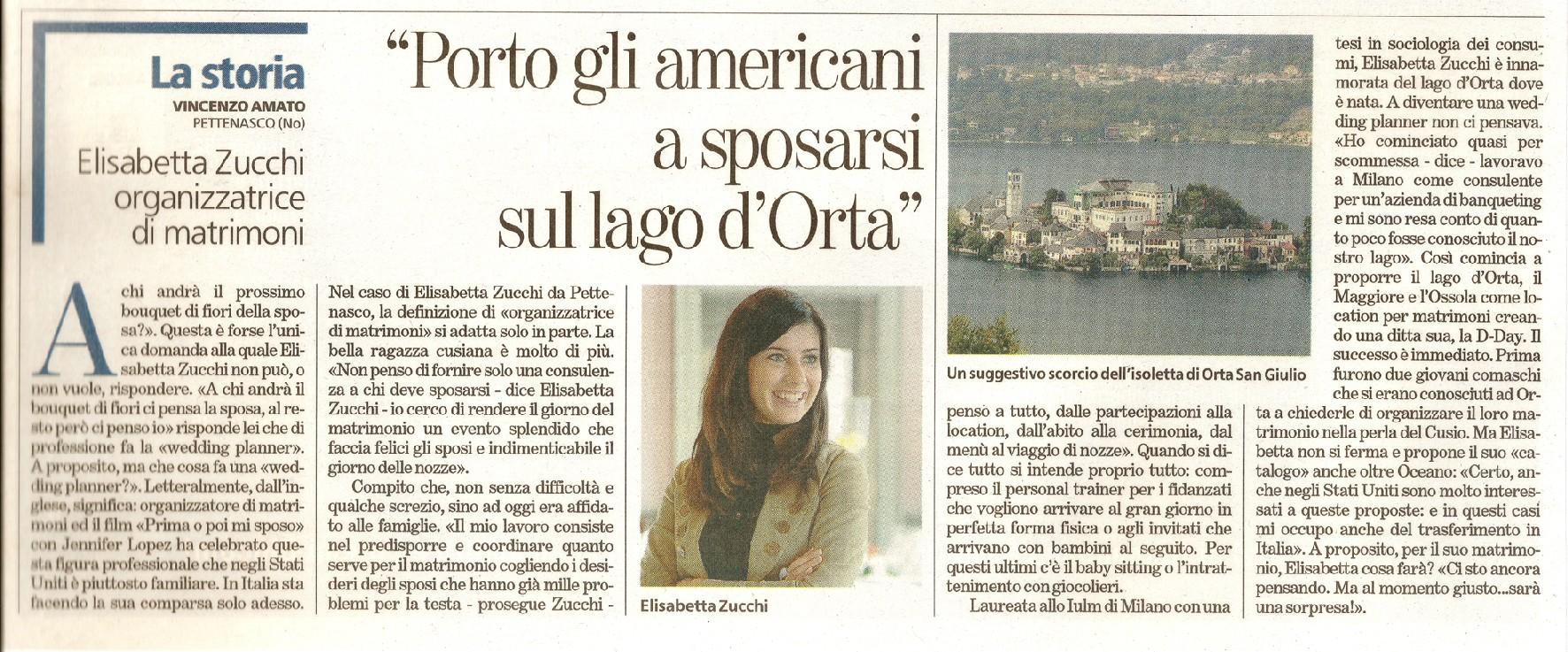 Elisabetta Zucchi Wedding Planner Header